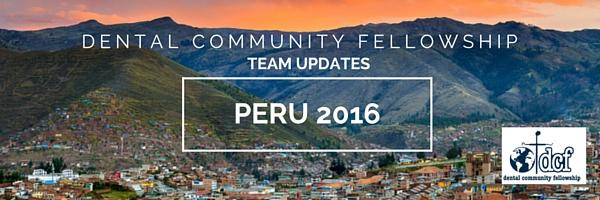 DCF Peru Team Update