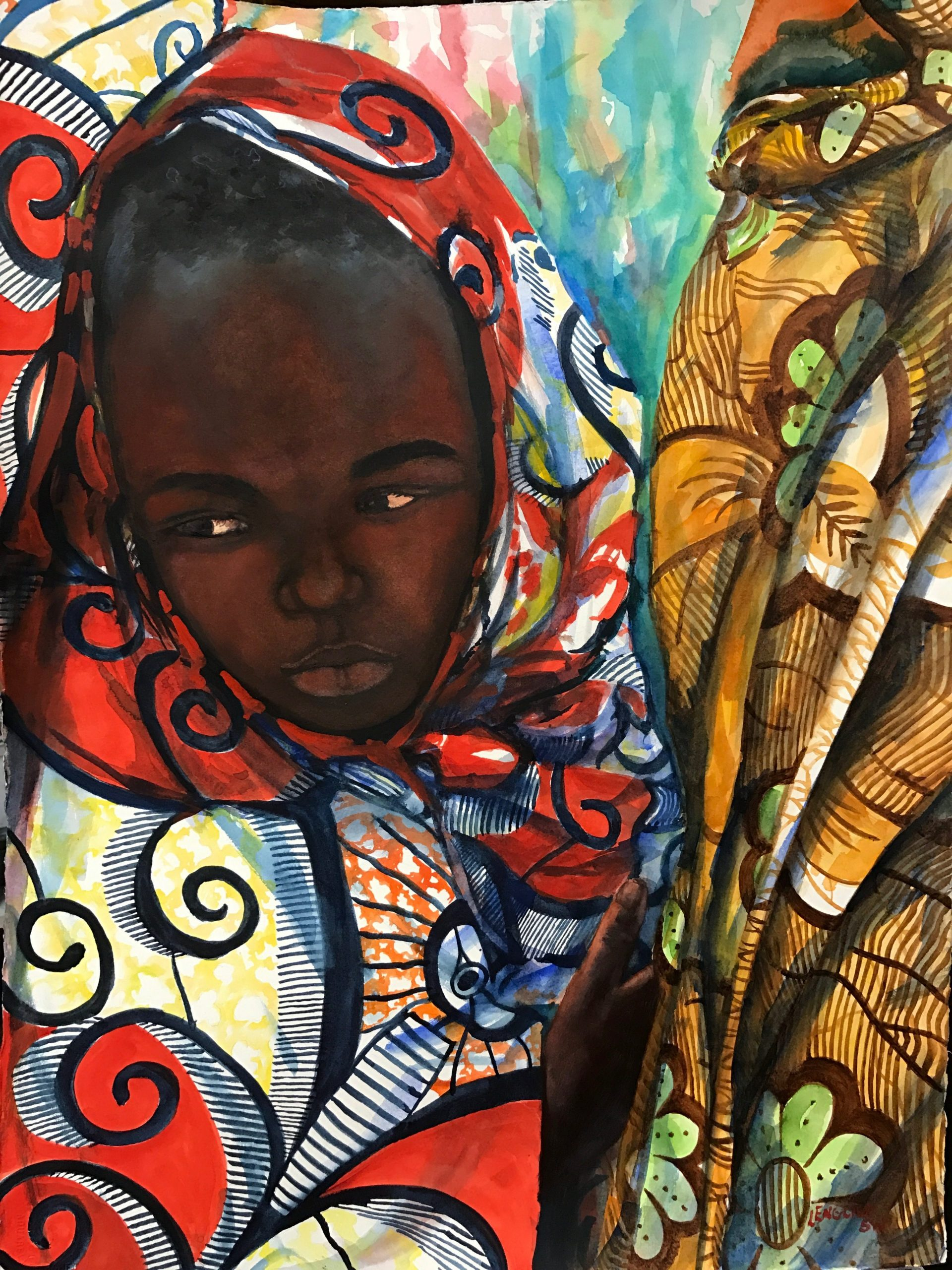 Through The Eyes of A Child – 30×22 – $1650 donation